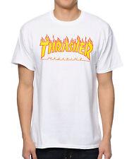 7a294f0f46f1 Thrasher Tee Flame White FREE POST New Mens Skateboard Magazine Premium T- Shirt