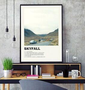 Skyfall (2012) Premium Minimal Gloss Poster Print Professional Grade A4 A3 HD