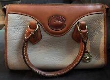 Vintage Dooney & Bourke Speedy Bag Cream/Tan Leather Doctor Bag