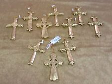 Set of 10 Gold Cross Assorted Ornament vintage Home Interiors & Gifts Gtc