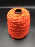 100%WoolSuperChunky,berber,knit,rug,craft,Yorkshire Spun.380g Cone Bright Orange