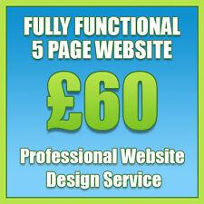 Conception Web, Bespoke 5 page site professionnelle, conception de site web services