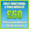 Web Design, Bespoke 5 Page Website, Professional Website Design Services