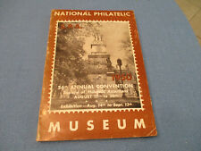 NATIONAL PHILATELIC MUSEUM  56TH ANNUAL CONVENTION 1950 SOFTCOVER + 1 CENT 1851-