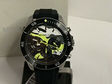 Michael Kors Men's Theroux Chronograph Black Silicone Watch MK8709 NEW IN BOX!!