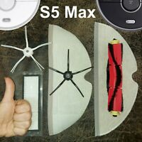 Nina Roborock S5 Max, Upgrade Wischtücher, Seitenbürste, HEPA Filter, Zubehör