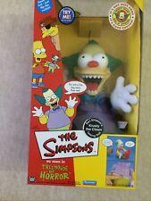 Krusty The Clown Talking Doll Figurine SIMPSON'S NIB Sealed New Box Very Mint