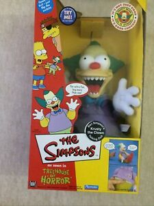 Krusty The Clown Talking Doll Figurine SIMPSON'S NIB Sealed New Box Very Mint