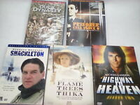 Lot of 5 A&E TV Show Box DVD Sets - Shackleton, Highway to Heaven, 3 More
