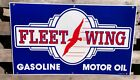 FLEET+WING+GASOLINE+-+MOTOR+OIL+PORCELAIN+SIGN+-+ONLY+1+AVAILABLE++GAS+%26+OIL
