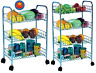 3/4 Tier Metal Kitchen Storage Vegetable Trolley Cart Fruit & Veg Drawer Wheels