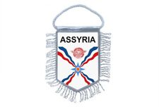 Mini banner flag pennant window mirror cars country banner assyria assyrian
