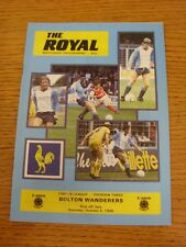05/10/1985 Reading v Bolton Wanderers  (Excellent Condition)