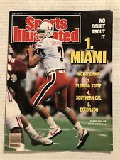 1990 Sports Illustrated MIAMI HURRACANES vs ALABAMA NewsStand NATIONAL CHAMPIONS