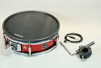 """14"""" Alesis Strike Tom Snare Pad Dual Zone Trigger w/ L Arm Rack Clamp & Wire"""