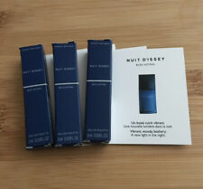Issey Miyake Nuit D'Issey Blue Astral 1ml Try Me EDT Sprays x 3