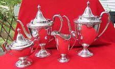 1948 MOONBEAM Pattern 4 Piece Coffee Tea Set By International Silver Plate
