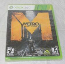 Metro: Last Light (Microsoft Xbox 360, 2013) Brand New Factory Sealed