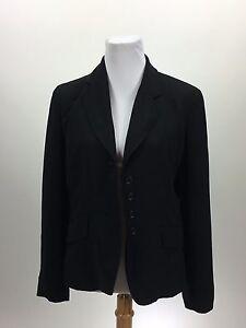 Ann Taylor 8 Blazer Jacket Black Classic Career 4 Button