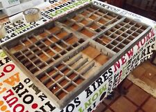 Plateau de bois imprimeurs Français, typographie tiroir, Decor industriel Loft