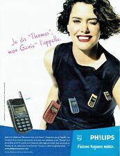 Publicité Advertising 087  1998  Philips   mobile téléphone portable Genie