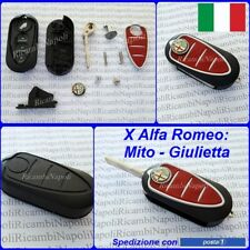 Chiave Cover Telecomando Guscio a 3 tasti + logo x ALFA ROMEO GIULIETTA e MITO