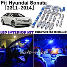 10x Blue LED Interior Lights Package Kit For 2011 2012 2013 2014 Hyundai Sonata