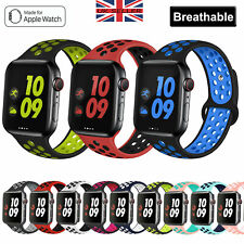 For Apple Watch Band Series SE 6 5 4 3 2 1 Sport Silicone Strap Band Wristband
