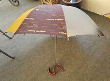 Nwt Vintage Aramis Umbrella spring Rain Protection Golf gold olive purple