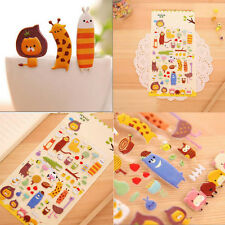 1 Sheet Cute Zoo Stickers Kids Cartoon Toys 3D DIY Diary Scrapbooking Stationery