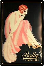 Blechschild Bally´s fine shoes Schuhe geprägt 20x30 Reklame Vintage Sign 1869