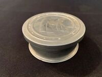 VINTAGE camping POCKET SIZE COLLAPSIBLE FOLDING ALUMINUM CUP SAIL BOAT SCENE