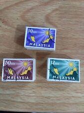 MALAYSIA 1963 Inauguration of Federation fine used, Bundle 0f 100 sets