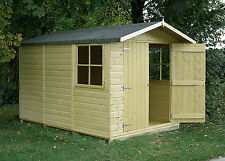 Guernsey 10x7 Double Door Pressure Treated Shiplap Shed