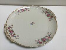 Schirnding Bavaria Cabinet Cake Plate  Richly Gilded Summer Flowers