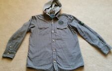 Boys Next hooded checked shirt with lining age 10 years