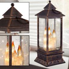 LED Tischleuchte Globo 23307 Laterne Kerzen Weihnachtsdeko Akzent Lampe 3deffekt