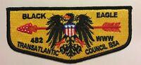 OA BLACK EAGLE LODGE 482 BSA TRANSATLANTIC COUNCIL DIRECT SERVICE GERMANY FLAP