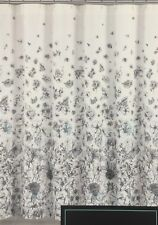 Cynthia Rowley Dylan Floral Pink Blue Flowers Shower Curtain Black White