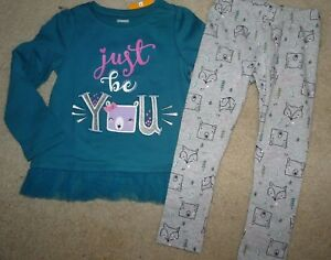 NEW GYMBOREE SIZE 4 4T WOODLAND WEEKEND JUST BE YOU TOP FOREST LEGGINGS OUTFIT