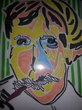 dessin au feutre portrait de derain d'après vlaminck