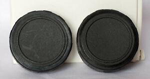 Pair of 38mm unbranded binocular caps.