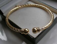 XL HEAVY SOLID 9ct GOLD TORQUE BANGLE BRACELET GF SELLING OUT FAST!!  53