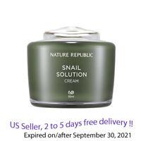 Nature Republic Snail Solution Cream 55 ml + Free sample !!
