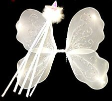 Childs White Wings and Wand Fancy Dress Set Christmas Angel Nativity Set Fairy
