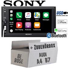 Sony Autoradio per Audi A4 B7 Bose Concerto Bluetooth Mela Carplay USB Einbauset