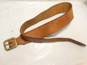 "Heavy Leather Size 40-42"" Custom Light Tooled Western Gun Holster Belt"