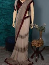 Saree Sari Indian Designer Wear Wedding Bollywood Ethnic Women Party