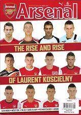 Arsenal soccer magazine Laurent Koscielny Mesut Ozil The Ox David O'Leary