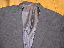 Hickey Freeman Gray Windowpane BEACON Sport Coat Jacket 46 L MOST RECENT LABEL